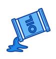 oil contamination line icon vector image vector image