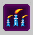 petrol flame tower concept background cartoon vector image