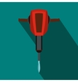 Pneumatic plugger hammer icon flat style vector image vector image