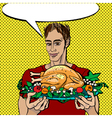 pop art thanksgiving vector image vector image
