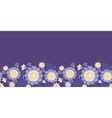 purple flowers and leaves horizontal seamless vector image vector image