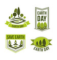 save planet earth day green ecology icons vector image vector image