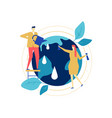save the planet - colorful flat design style vector image vector image