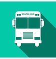 School Bus icon with long shadow vector image