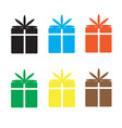 set gift box on white background vector image vector image