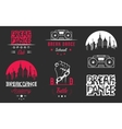 Set of Badges Logos and Sign Break Dance vector image vector image