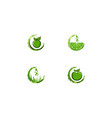 set of water drop juice logo designs inspiration vector image