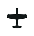 simple black Airplane icon with screw on white vector image vector image