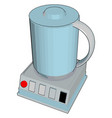 simple cartoon a blue blender on white vector image vector image