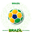 soccer ball in the colors of the national flag vector image vector image
