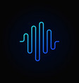 sound wave outline blue icon or sign vector image