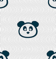 Teddy Bear icon sign Seamless pattern with vector image