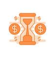 time is money flat line designed vector image