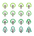 tree line icon vector image vector image