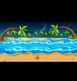 tropical beach landscape scene with many palm vector image vector image