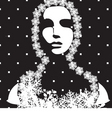 winter portrait black and white vector image vector image