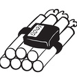 black and white dynamite bomb vector image