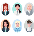 icon set business women in flat style vector image