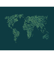 Map of World network Continents of planet Earth vector image