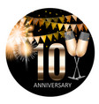 10 anniversary emblem template design background vector image