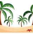 a beach nature scene vector image vector image