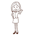 A simple sketch of a happy office worker vector image vector image