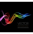 Abstract smoky waves background Template vector image vector image