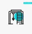 athletic ring sport game turquoise highlight vector image