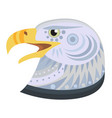 bald eagle head logo decorative emblem vector image