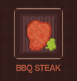 barbecue grilled bbq steak meat cartoon vector image