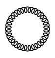 black telephone spiral cable in the circle simple vector image vector image