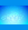 blue and light turquoise glowing various tiles vector image