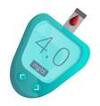 blue glucose meter icon cartoon style vector image