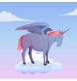 Cartoon magic unicorn pegasus vector image vector image