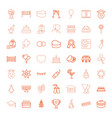 celebration icons vector image vector image