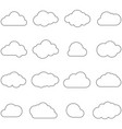 clouds line art icon storage solution element vector image