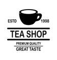 coffee house emblem template design element vector image vector image