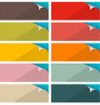 Colorful Empty Stickers Set with Bent Corner vector image