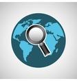 concept globe browser social media vector image vector image