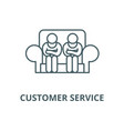 customer service line icon linear concept vector image vector image
