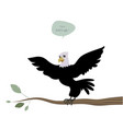 cute bald eagle with wings outstretched vector image