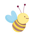 cute bee insect design icon on white background vector image vector image