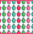 delicious apple fruit to healthy life background vector image vector image