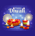 diwali realistic background vector image vector image