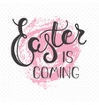 easter greeting card - easter is coming vector image
