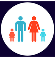 Family computer symbol vector image vector image