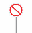forbidden traffic sign vector image