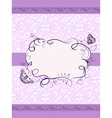frame with floral vector image vector image