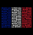 france flag pattern of medieval sword icons vector image vector image