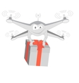 fun drone with gif Isolated vector image vector image